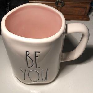 Rae Dunn BE YOU mug (with light pink interior)